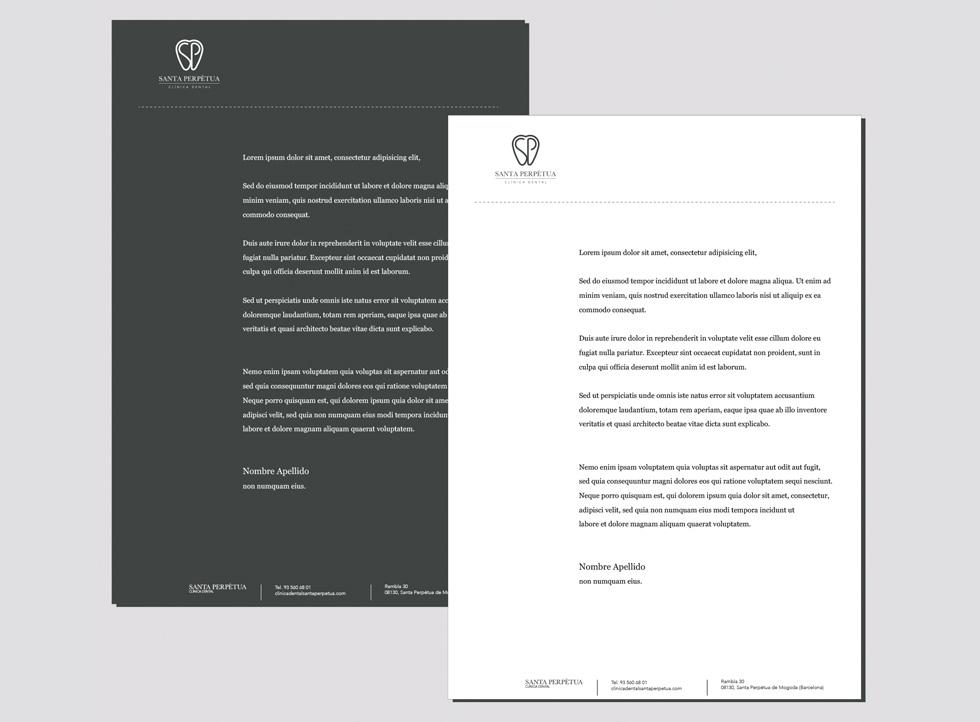 Diseño gráfico Clínica Santa Perpetua | Docmedia diseño web y creación de contenidos para clínicas en Barcelona