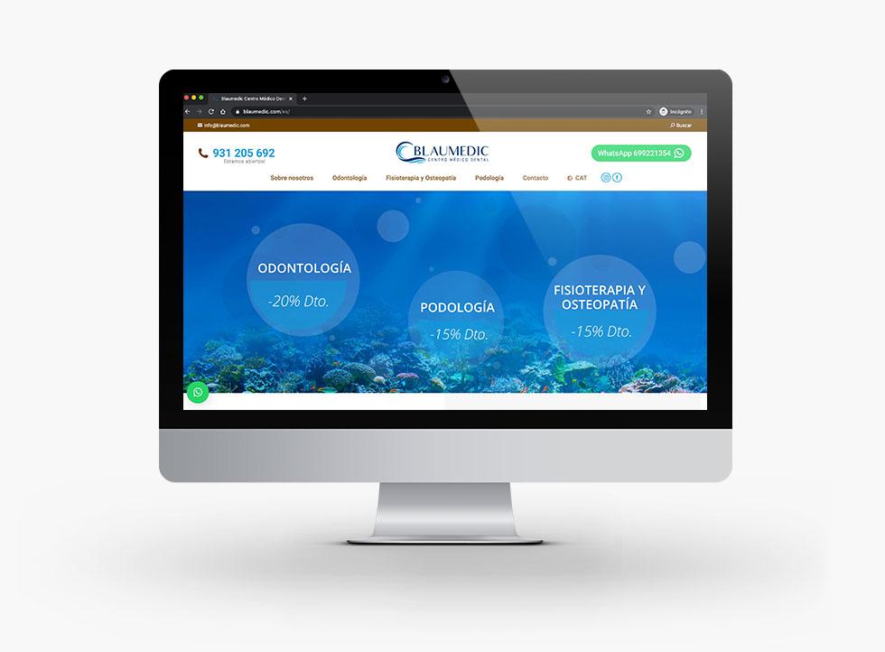 Diseño Web Blaumedic Centro Médico Dental - Docmedia Marketing Dental