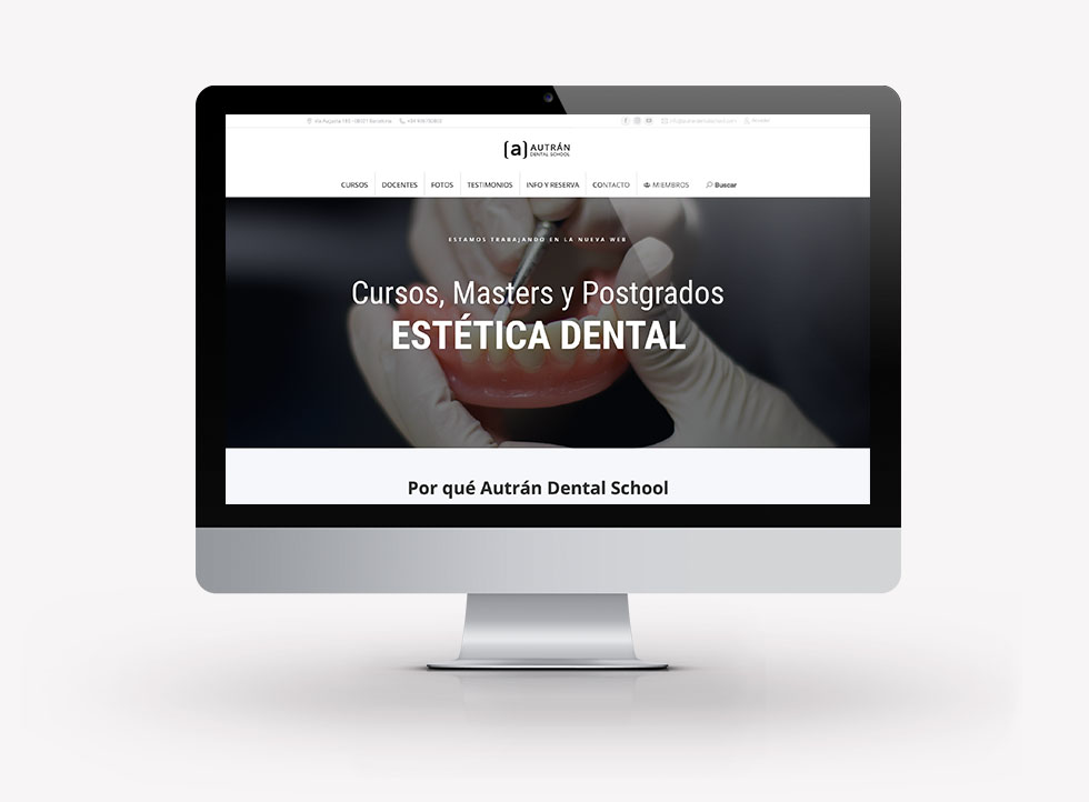 diseño-web-clinica-dental-autran-dental-school