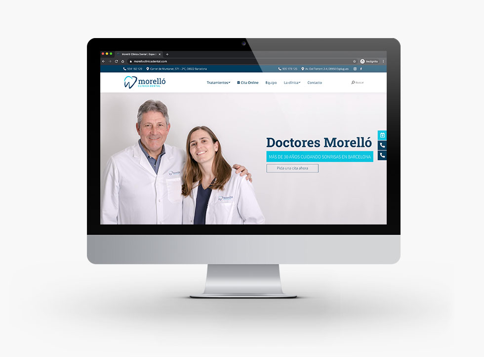 Diseño Web Morelló Clínica Dental - Docmedia Marketing Dental