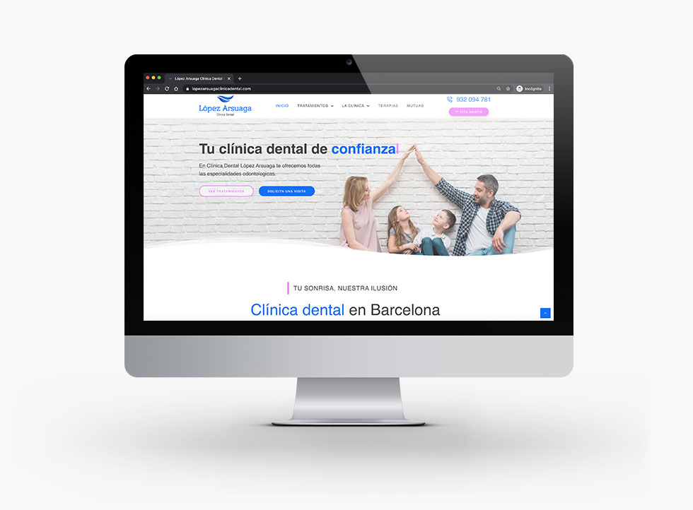 diseño-web-lopez-arsuaga-clinica-dental