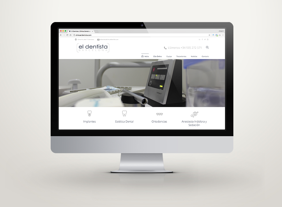 El Dentista | Docmedia diseño web para clinica dental en Barcelona