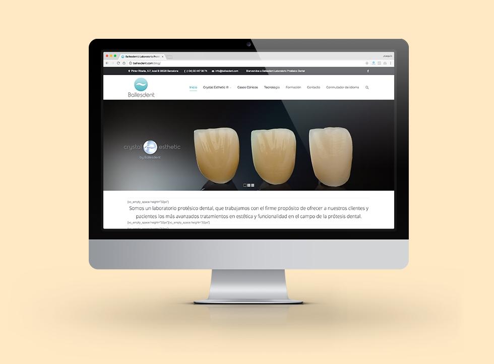 Ballesdent   Docmedia Diseño web sector dental en Barcelona